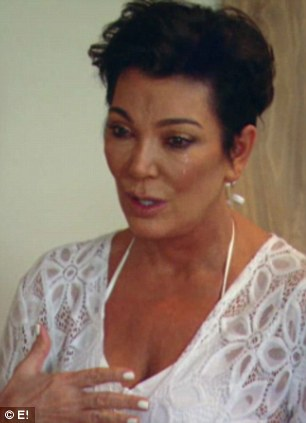 Raw emotion: The mother and manager explains her concerns to Kim, seen here in a preview clip of Sunday's upcoming show