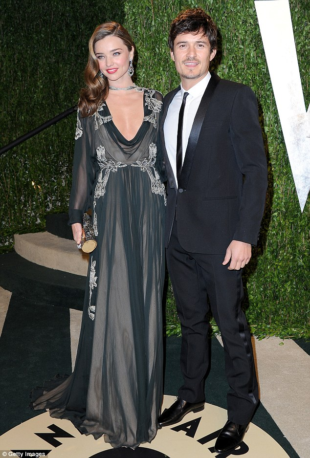 When they were still man and wife: Mrs and Mrs Bloom at the Vanity Fair Oscar party in 2013