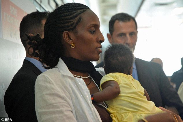New start: Meriam and baby Maya were blessed by the Pope during their stay in Italy