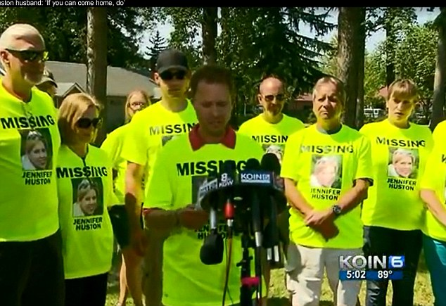 Distraight: An emotional Kallen Huston pleaded for any information that could lead to finding his wife in a press conference Friday