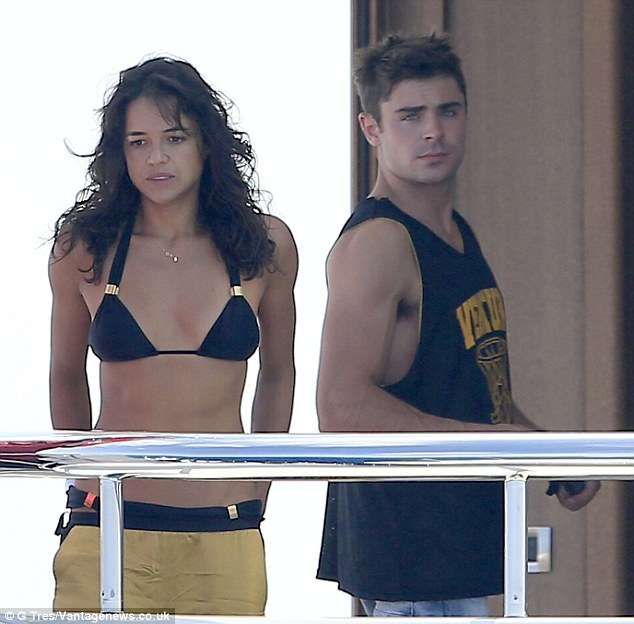 Zac Efron And Michelle Rodriguez Soak Up Sun On Justin