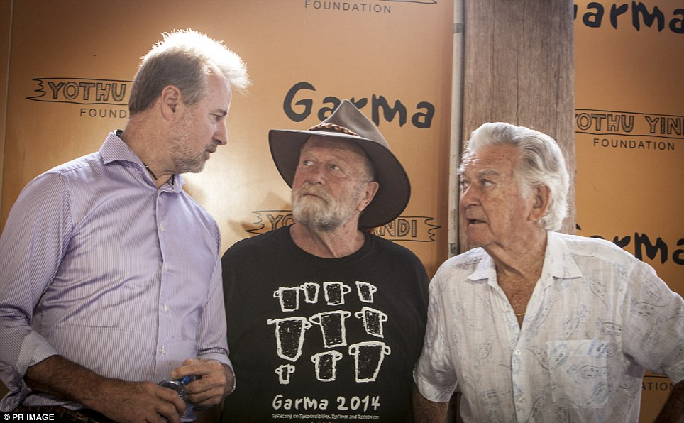 Indigenous Affairs Minister Nigel Scullion, Garma Ambassador Jack Thompson and former Prime Minister Bob Hawke attended the key forum on Saturday