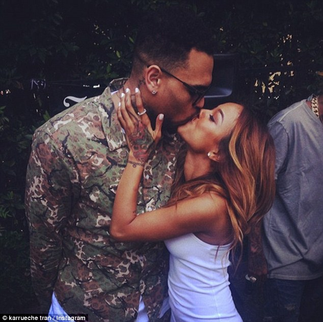 Last kiss? Karrueche has now deleted a number of pictures of herself and Chris from her Instagram site