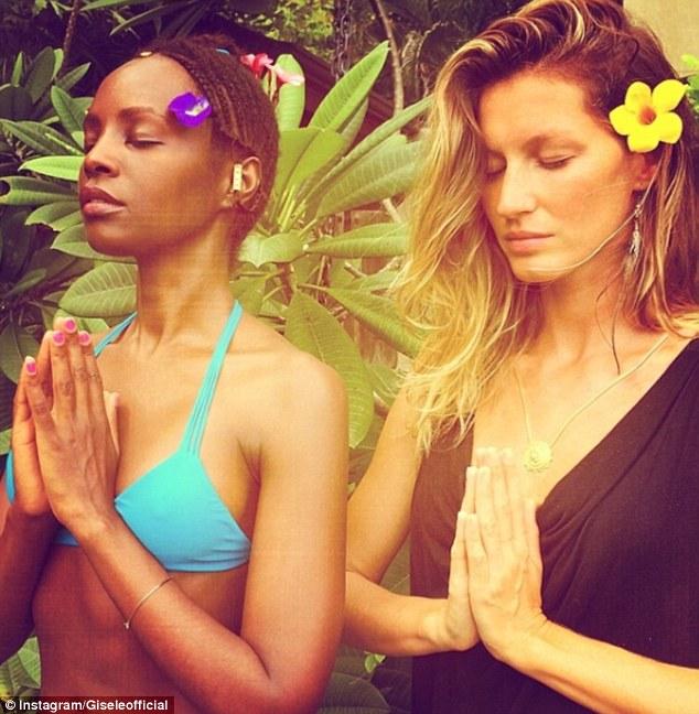 Encontrando seu interior Zen: Gisele e companheiro modelo Kiara 'Alice' Kabukuru (foto) apenas começaram um período de três dias de silêncio, como parte de um experimento de yoga e meditação