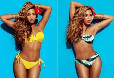 Flawless: Beyonce, seen posing for H&M, scooped ten per cent of the votes to make the top ten