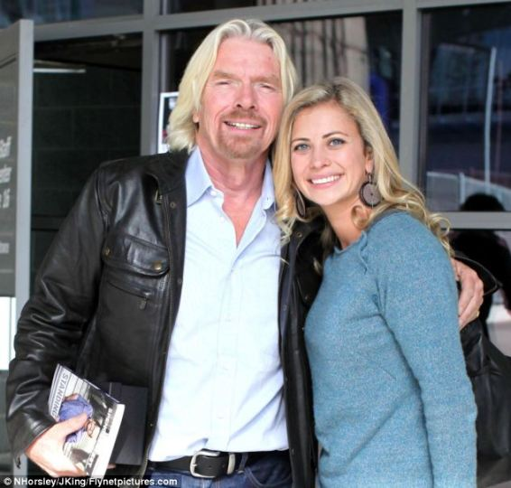 New adventures: Sir Richard Branson's eldest child, Holly confirmed yesterday that she is expecting twins, but has not yet revealed if her pregnancy will affect her plans to blast into outer space on Virgin Galactic's first commercial space flight, scheduled for the end of the year