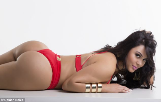 Posing: Rebeka Francis of Rondonia is among the 27 women battling it out for the title of Miss Bum Bum Brazil