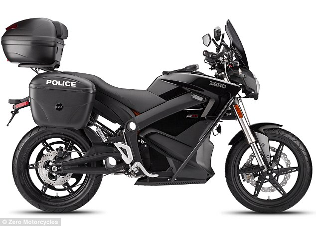California-based Zero Motorcycles are releasing an electric bike for police (shown). It takes between six and 9.9 hours to charge depending on the model and weighs up to 473 pounds (215 kg)