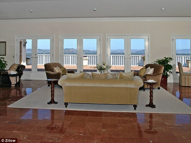 Inside: These real estate pictures show the interior of the home in Tiburon, California which is owned by Robin Williams and his family and where the comedy legend was found dead on Monday (pictures date from before Williams purchased the home)