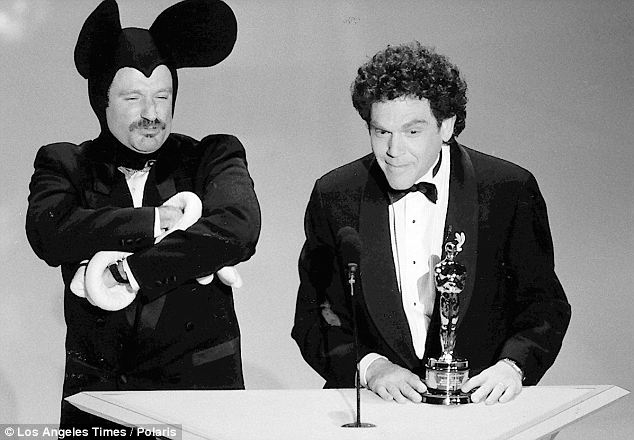 Played the angry Mickey: Robin Williams and Charles Fleischer present Richard Williams with the Special Achievement Academy Award for his groundbreaking animation on Who Framed Roger Rabbit in 1989