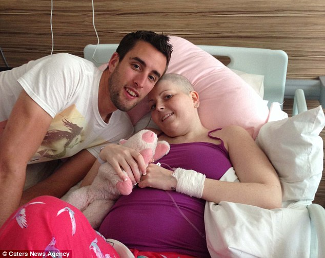 Mrs Weston immediately began chemotherapy, which left her tired, bloated and without hair. 'But nothing could take away her smile,' said Mr Weston