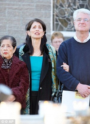 Two years of hope: James Foley's parents and grandmother, Olga Wright, pictured left, held a vigil for his release in when he captured in Libya last year