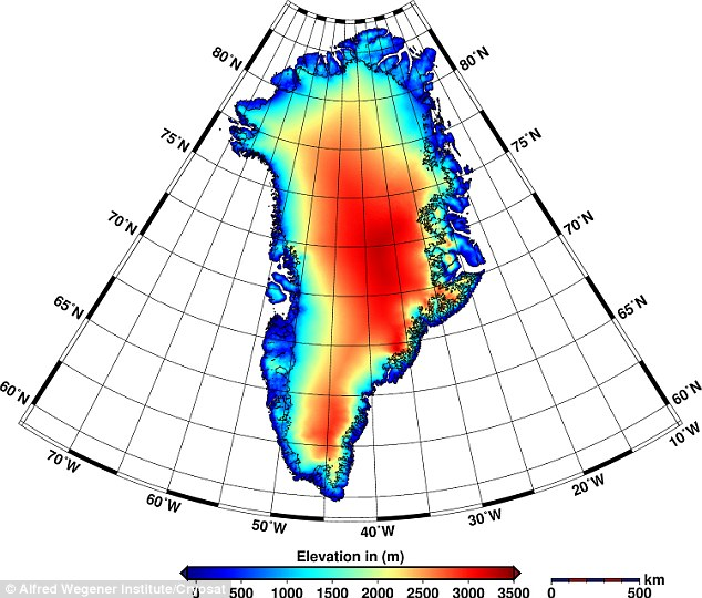 The maps reveal that Greenland is now losing about 90 cu miles (375 cu km) of ice each year. The discovery was made using the first ever maps of elevation changes in Greenlandic and Antarctic glaciers