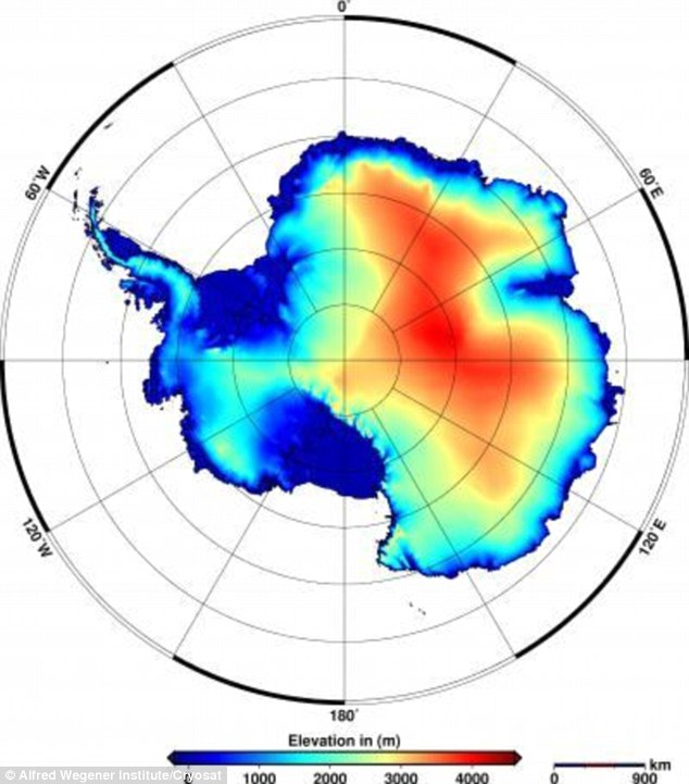 The team has produced elevation models for the ice sheets. In Antarctica, the volume of ice loss is about 31 cu miles (128 cu km) per year and thinning is concentrated in the area of the Amundsen Sea