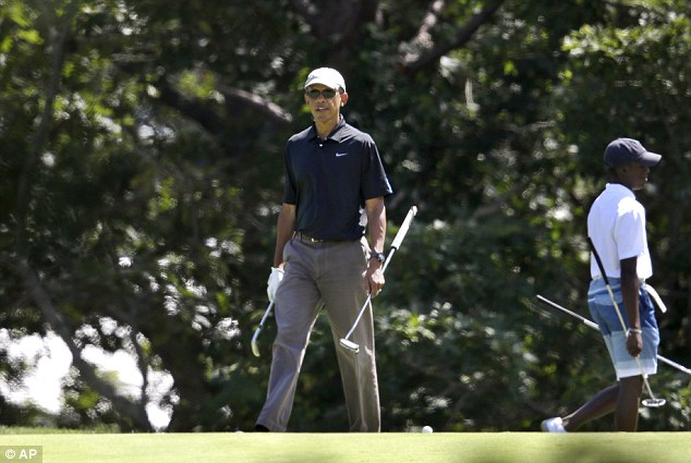 'Relentless': Obama drew fire this week for golfing as an angry nation mourned the death of journalist James Foley at the hands of an ISIS militant