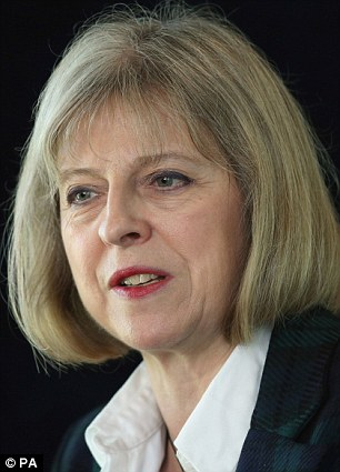 Home Secretary Theresa May, says it is her job to hire and fire police and crime commissioners