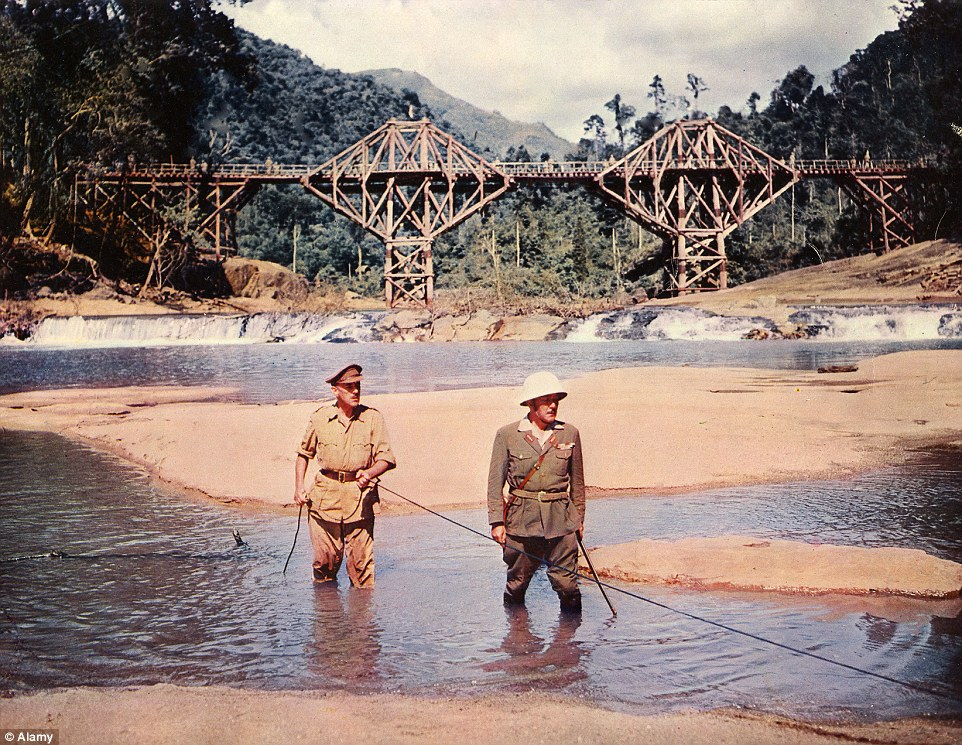 The 1957 film was shot in various locations, concentrating in particular on Sri Lanka, where a wooden bridge was built as a set
