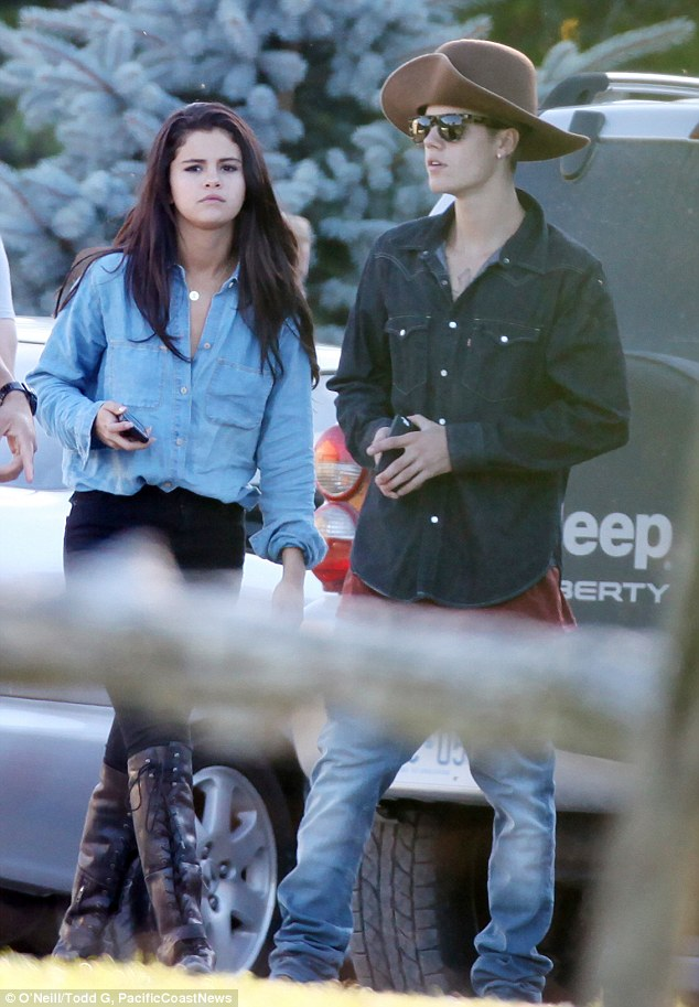 Young love: The on/off couple appear to be firmly back on, with Biebs going all out to impress his love