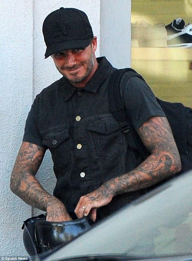David Beckham Falls Off His Motorbike As He Leaves LA