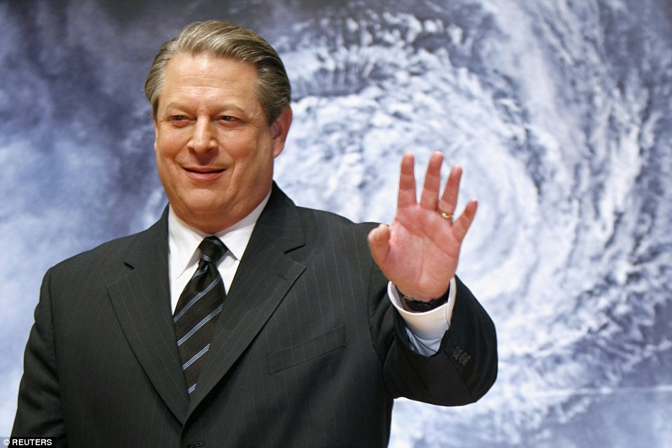 The speech by former US Vice-President Al Gore (above) was apocalyptic. He said that the North Polar ice cap is falling off a cliff and could be gone in seven years