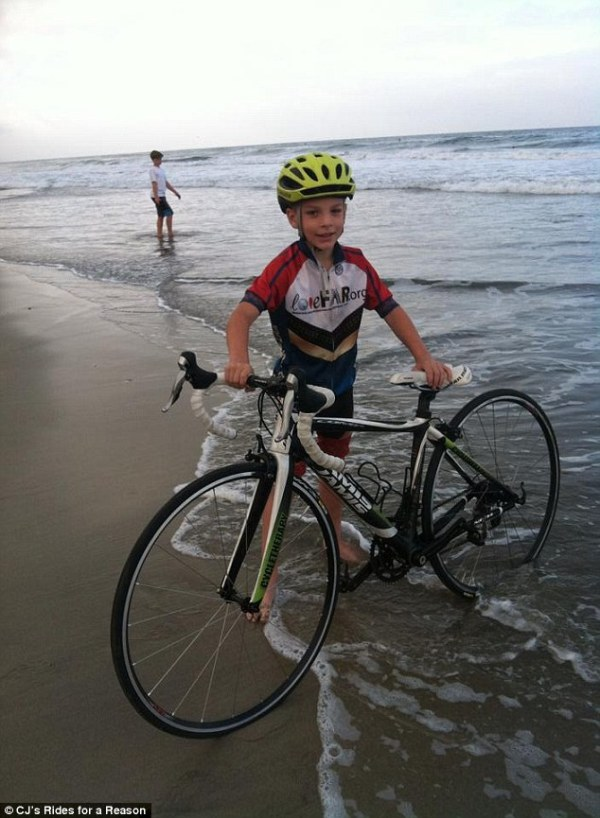 CJ Burford, 9, sets off on cross-country bike ride to ...