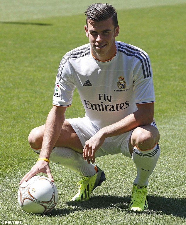 Dream move: Gareth Bale left Tottenham last summer to join Real Madrid in the most expensive signing ever