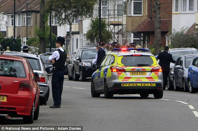 Investigation: Specialist firearms officers were deployed to an address in Edmonton, north London, just after 1pm