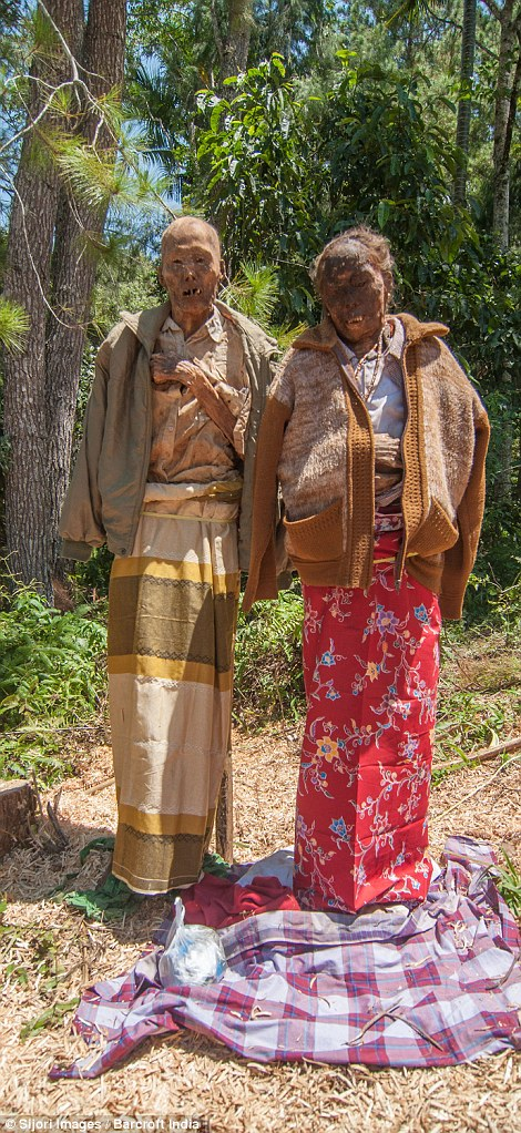Indonesian Village Toraja Dig Up Dead Relatives And Give Them New Clothes In Ritual Daily Mail Online