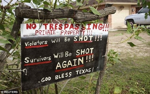 Resultado de imagem para trespassers will be shot texas