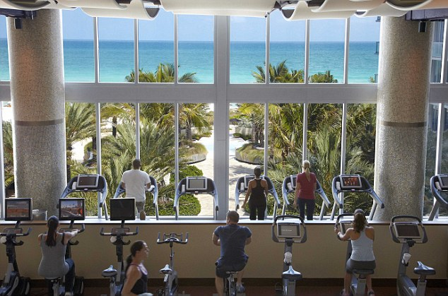 Putting some effort into it: Even if the work-out is tough, the view offers a sight to soothe the soul