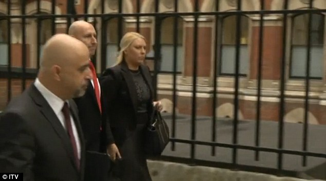 Arrival: Miss Greig arrives for the inquest today. She was not invited to give evidence at the hearing