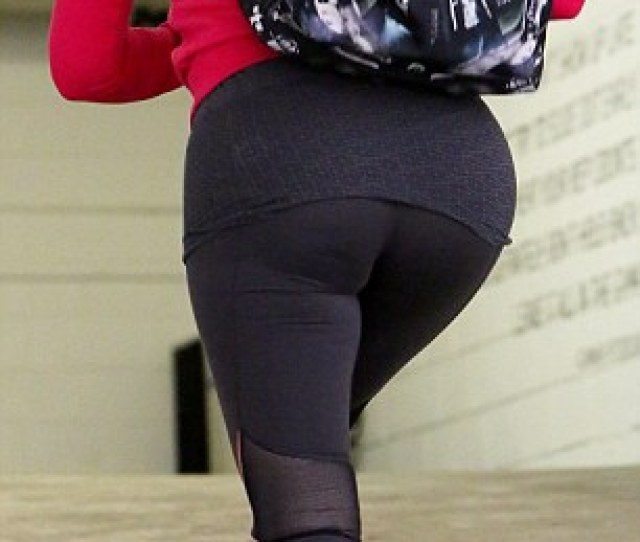 Booty Licious Khloe Kardashian Heads To The Gym In Beverly Hills On Wednesday And