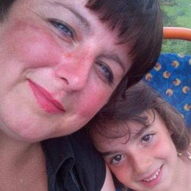 A mother's love: Lyndsey Shipstone, 42, with her daughter Mary, who died in hospital yesterday after being shot