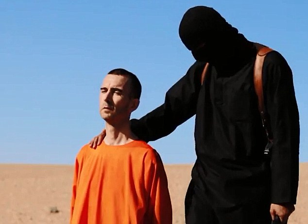 Horrific: The chilling video of the beheading of David Haines was almost identical to the films showing the murders of US hostages James Foley and Steven Sotloff. All three wore bright orange boiler suits