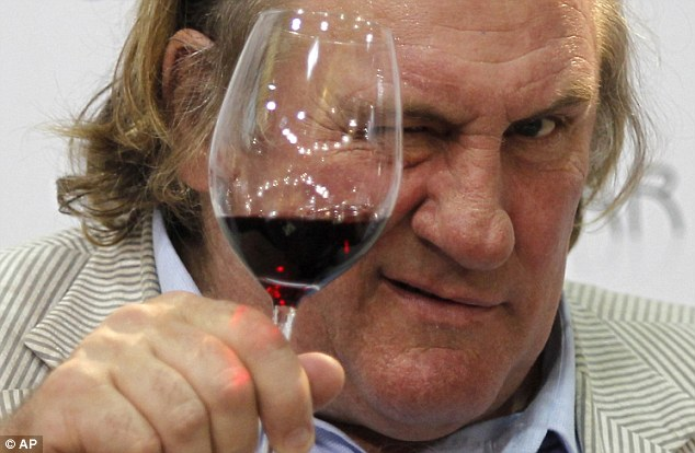 Mon Dieu! Gerard Depardieu recently told a French film magazine: 'I can¿t drink like a normal person. I can absorb 12, 13, 14 bottles per day'