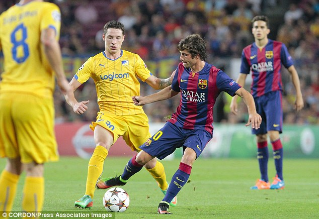 Sergi Samper impressed for Barcelona in the Champions League on Wednesday evening