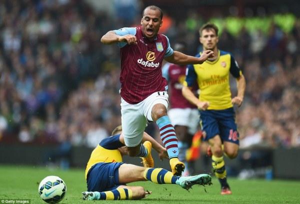 Aston Villa 0-3 Arsenal: Mesut Ozil, Danny Welbeck and Aly ...