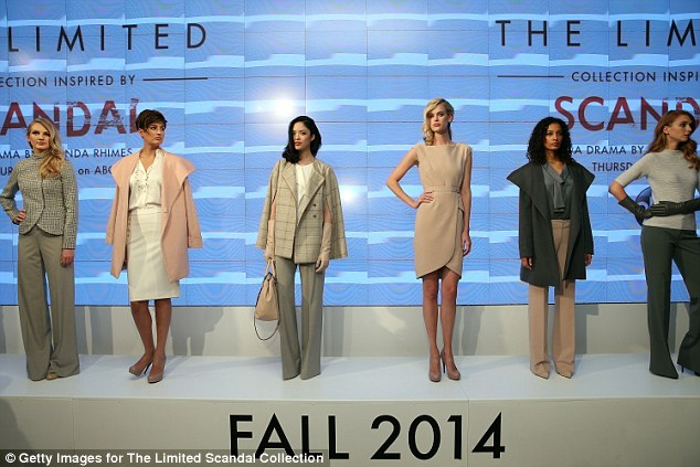 Get the look: The Scandal-inspired clothing were showcased in New York City on Monday