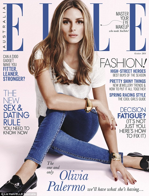 October issue: The photoshoot appeared in this month's issue of Elle Australia