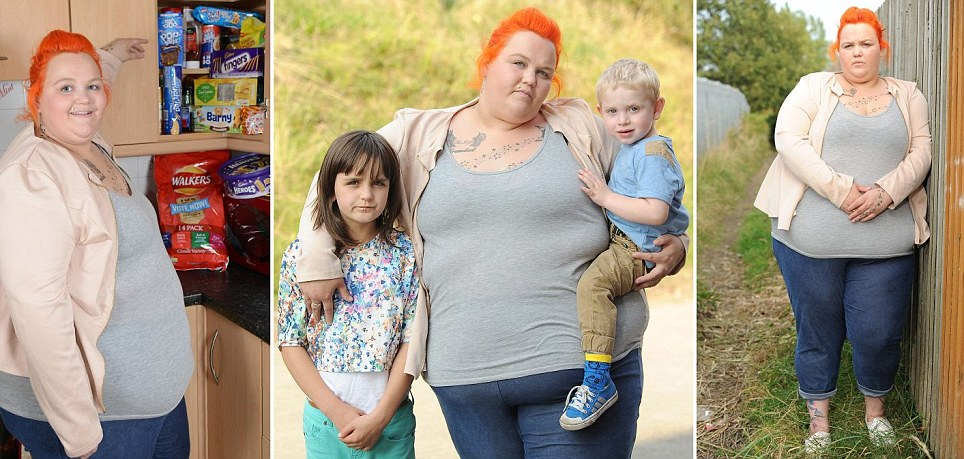 Unemployed - Christina Briggs and kids on Benefit | ozara gossip