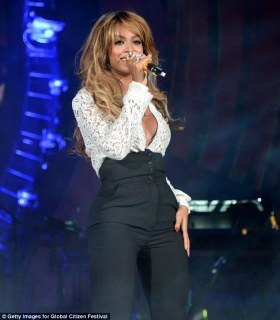 Composed: Beyonce looking perfectly put together before things unravelled
