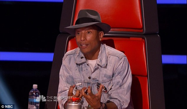 Compelling argument: Pharrell lobbied hard for Blessing to join his team