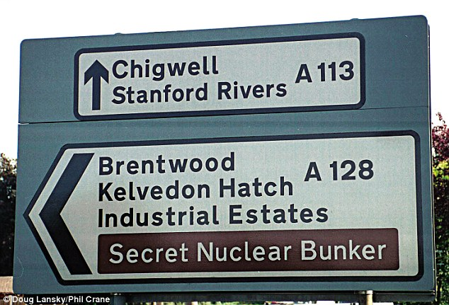 In Essex, England, this sign doesn't do a very good job of keeping this top-secret location under wraps