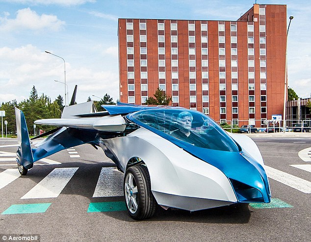 Aeromobil is a 'flying car' that can fit in a standard parking space, and could both take off and land at any airport in the world.