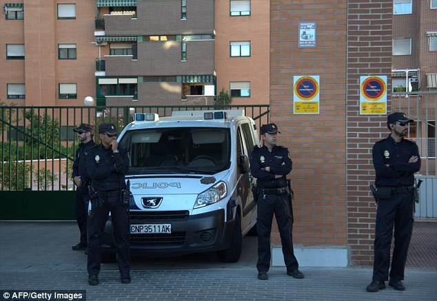 Security: Police in Spain are guarding the nurse's home and also her hospital room