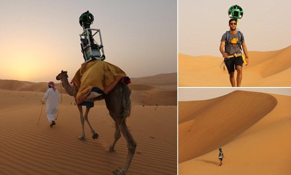 Google has strapped its Trekker camera to a camel so that ...