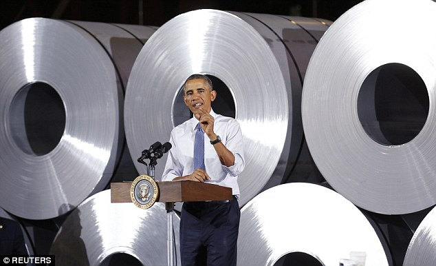 Out of the loop? US President Barack Obama touted America's manufacturing economy during an Oct. 3 speech at an Indiana steel company, claiming that jobs and work orders were no longer 'moving to China or other countries'