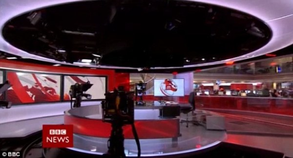 BBC News cameras focus on empty chair at start of midday ...