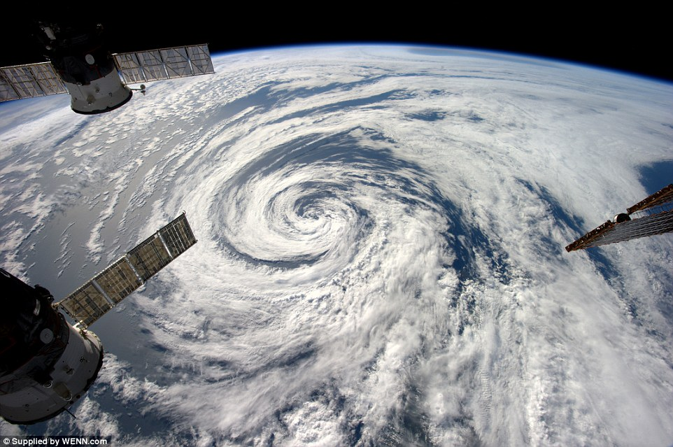 Looking down on creation: Astronaut Alexander Gerst captures swirling cloud formations from the International Space Station