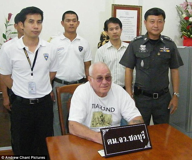 Child molester: Roderick William Robinson (pictured after his arrest in Thailand in 2011) molested two Australian girls aged under ten in the late 1980s, but did not face justice until he was extradited from Portugal in 2010 to Sydney, where he was sentenced to a maximum of six months and released seven days later because of time served